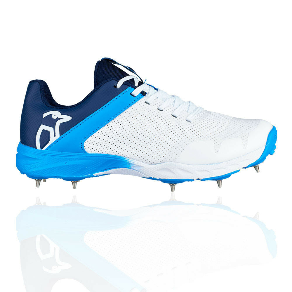 Kookaburra Mens KC 2.0 Cricket Spikes Blue White Sports Breathable Lightweight