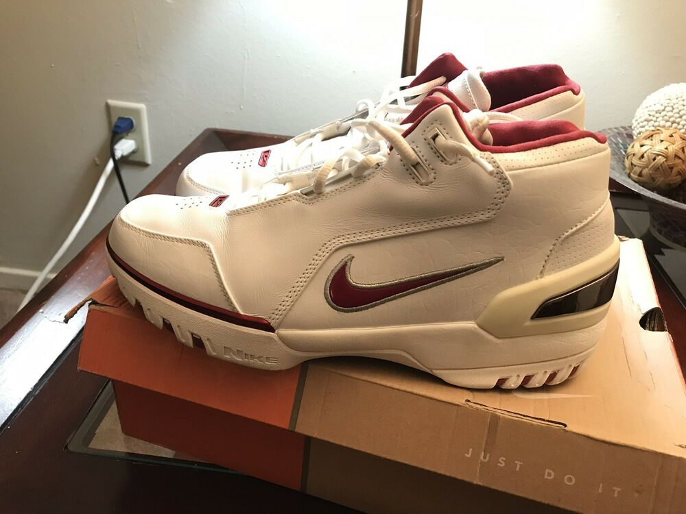 57c9a070f Nike Air Zoom Generation Size 10.5 White Varsity Crimson  PRE OWNED ...