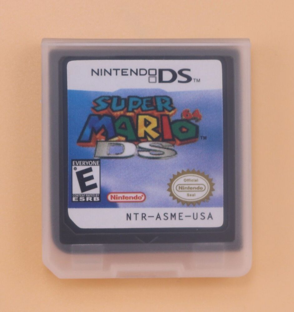 New Super Mario 64 Game Card For Nintendo 3DS NDSL DSI DS
