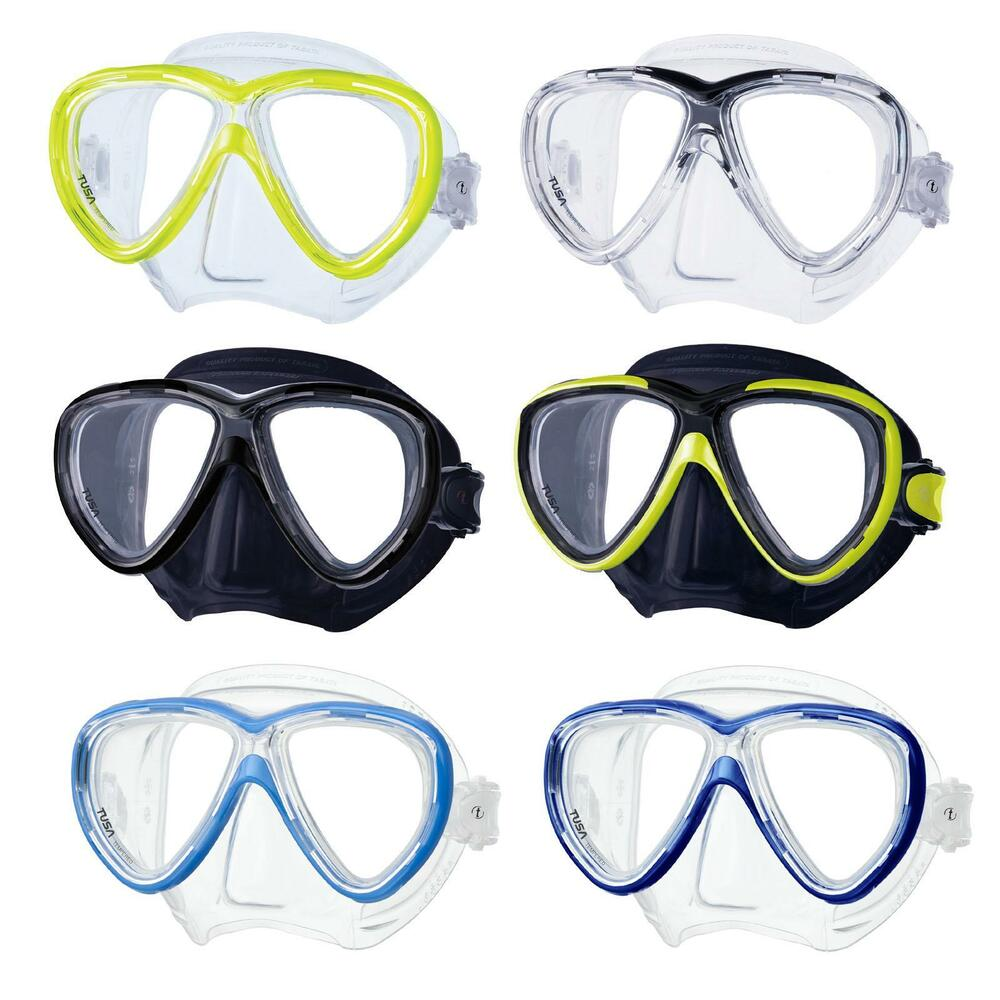 61141991466 Details about Tusa Freedom One M-211 - Two Glass Diving Mask