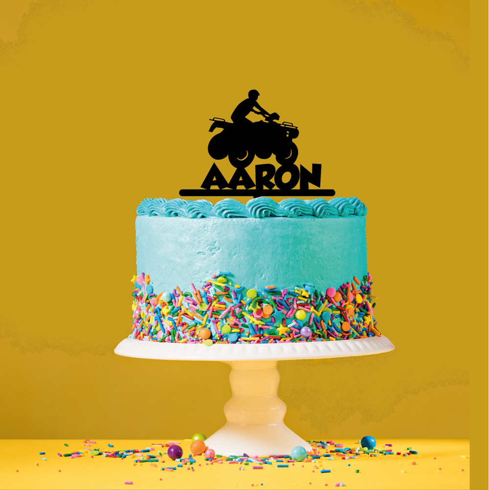 Details About Personalised Name Acrylic Cake Topper Quad Bike Theme Birthday Jpg 999x1000 Atv