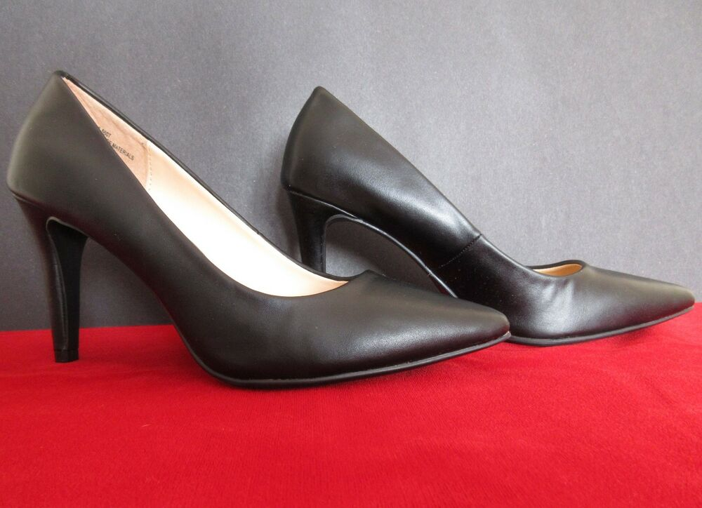 dc90eac1da12 Details about A.N.A. Black Pointed Toe Heels Pumps Size 6M