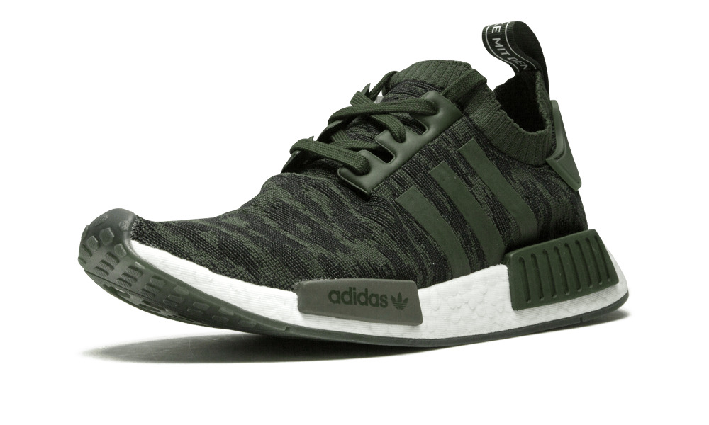 955d7cebaa0d4 Details about Adidas NMD R1 Primeknit NIGHT CARGO OLIVE GLITCH GREEN WHITE  BOOST CQ2445 Men s