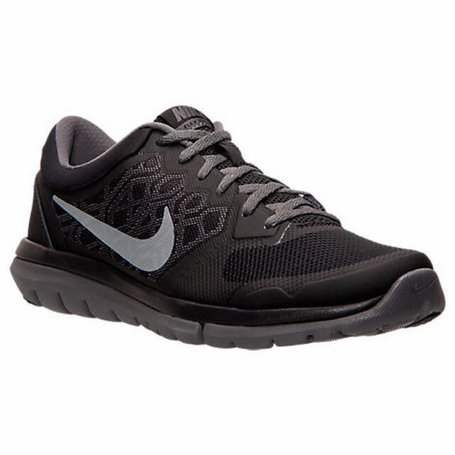 best sneakers 3bb39 af62b Details about Nike Men s Flex Run 2015 Black, Gray, Cool Gray Size 12.5 NWOB