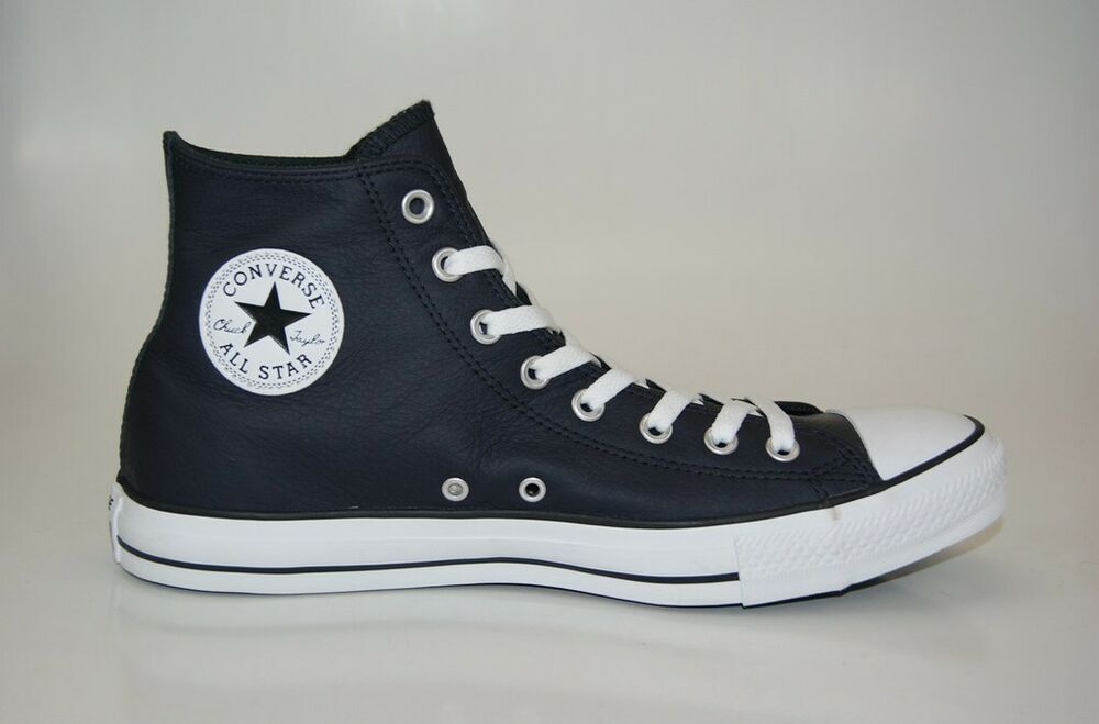 44cd82112b2a3c Details about Converse Chuck Taylor all Star Leather Hi Sneakers Trainers  Men s Shoes New