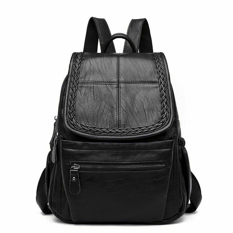 914939f6bcf2b Details about Women Backpack Fashion Style Casual Elegant Faux Leather  Rucksack