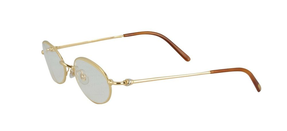 9b2f53a1e667 NEW CARTIER EYEGLASSES T8100350 GOLD FRAME FRANCE 49mm AUTHENTIC