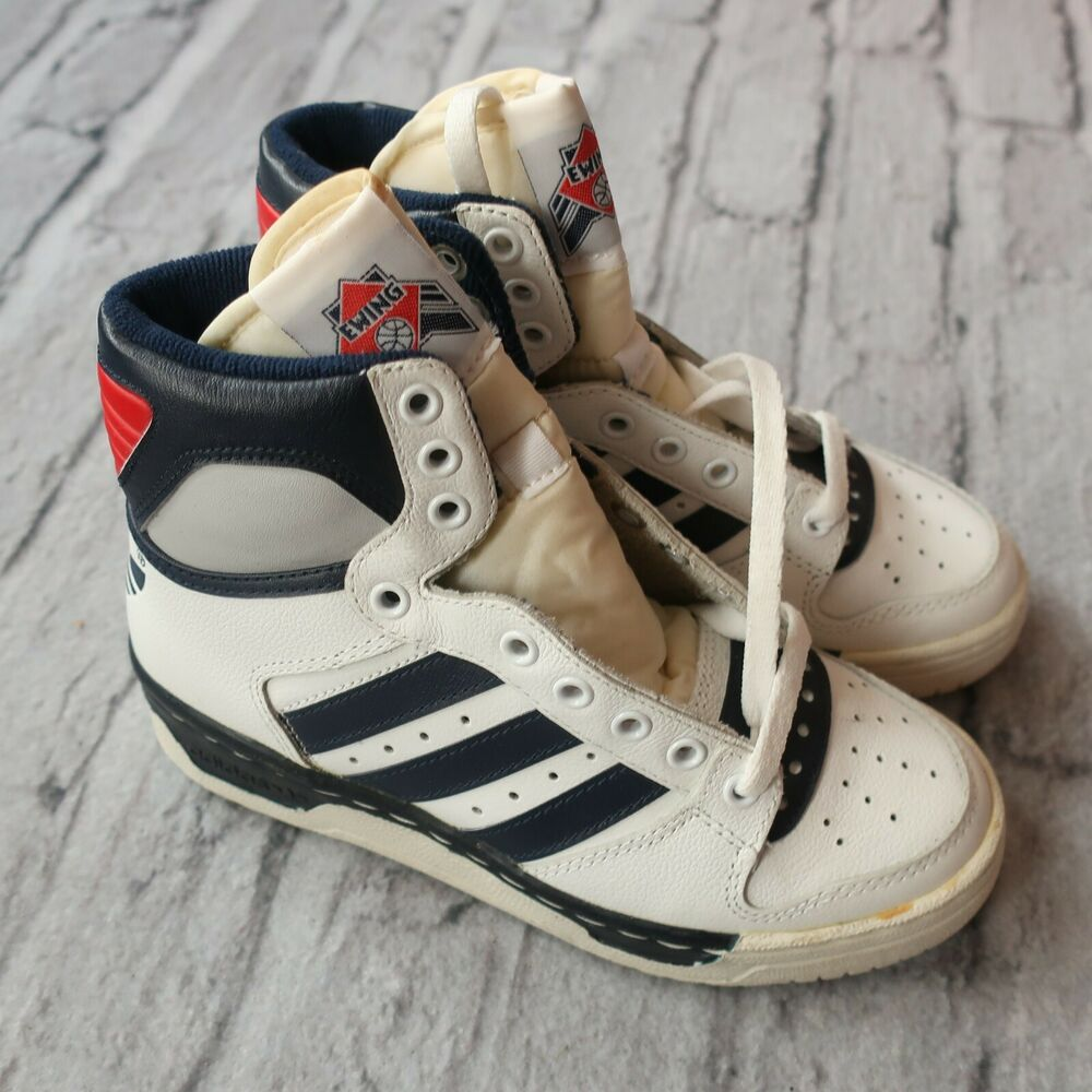 935d410fdc91 Details about Vintage 1986 NEW Adidas Conductor HI Patrick Ewing Shoes
