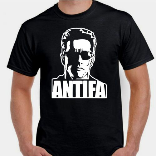 Antifa man sunglasses serious fight anonymous T shirt
