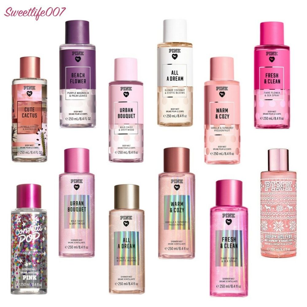 Your Favorite Perfume Cologne: Victoria's Secret Pink Body Mist (Full-Size) - PICK YOUR FAVORITE FRAGRANCE!