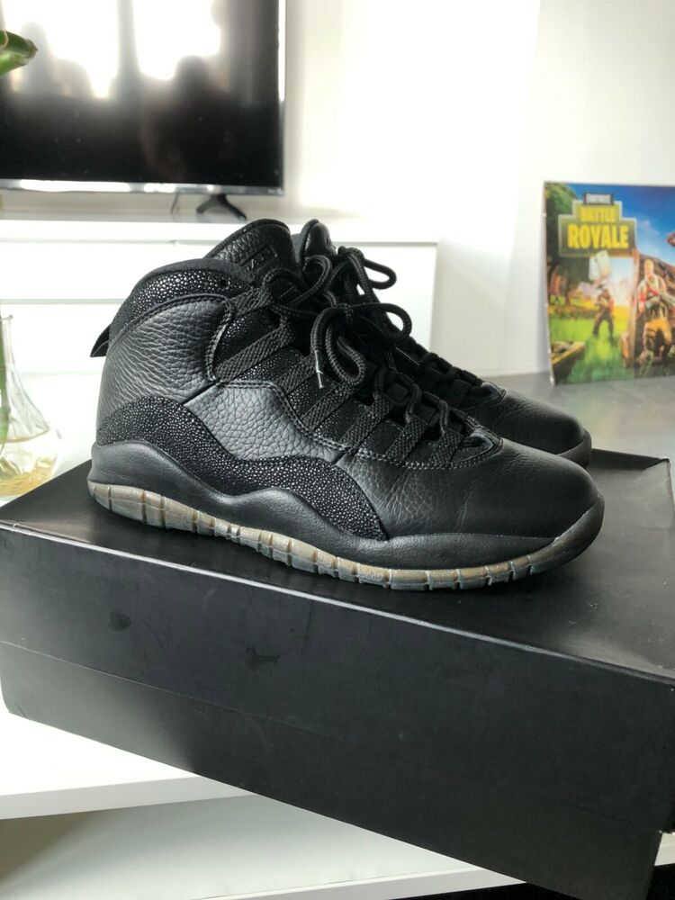ed300e9fca3 Details about Nike Air Jordan 10 OVO Black Size 8 with box