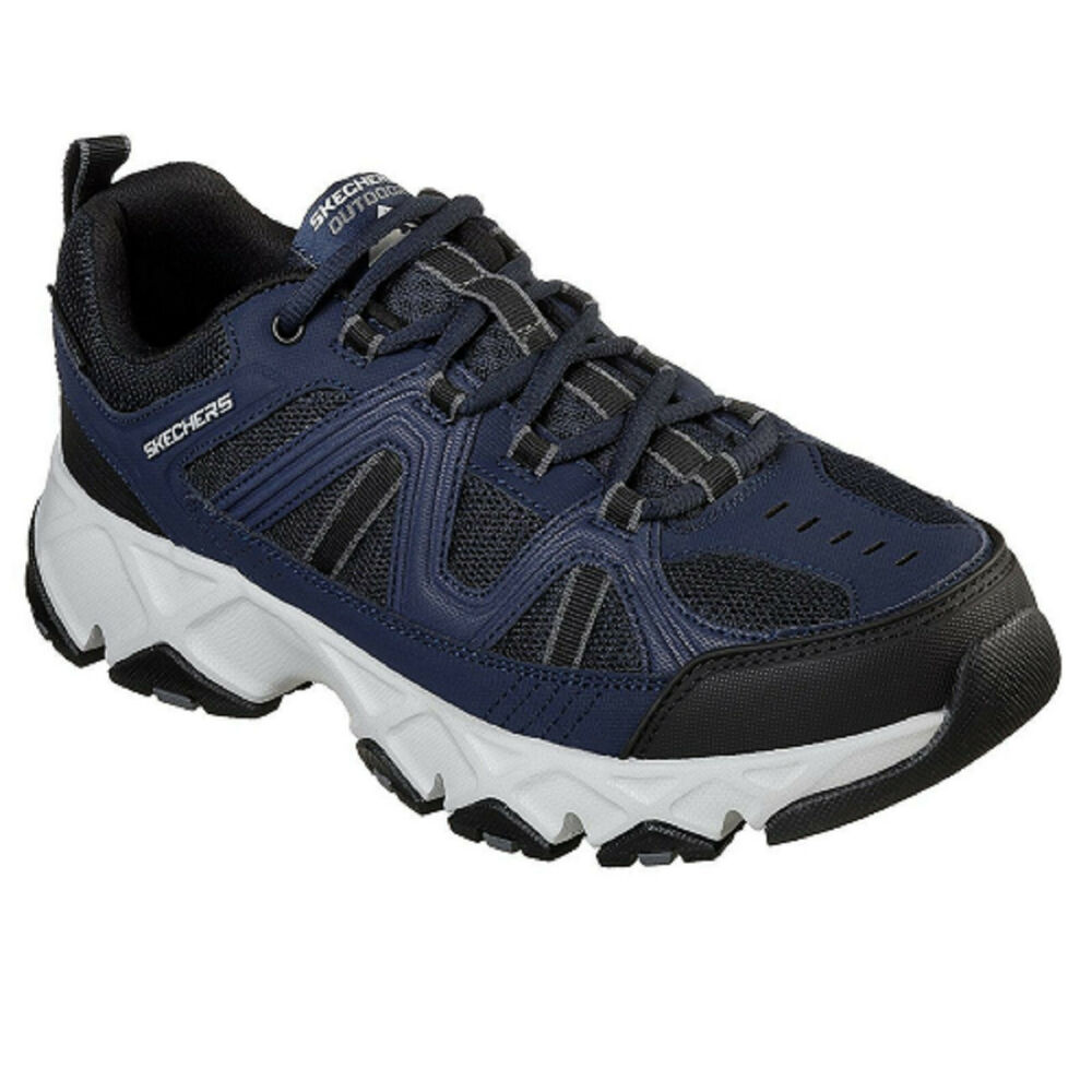 dea65f7e1b32 Details about Men s Skechers CROSS BAR 51885NVBK Navy Black Pull-on Sneaker  Shoes