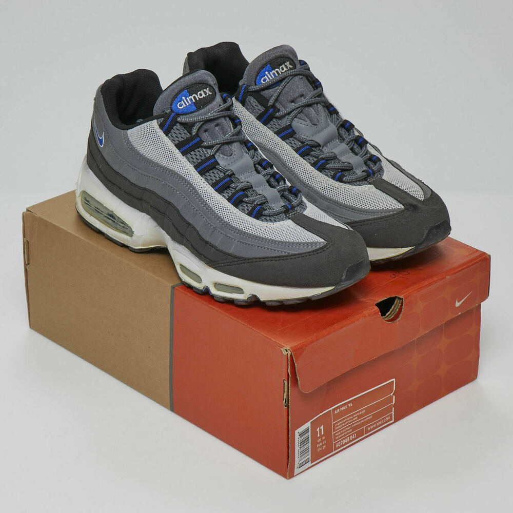 timeless design 294f2 fd713 Details about NIKE AIR MAX 95 OG 2004 LIGHT GRAPHITE SPORT ROYALE WHITE  609048 041 MEN S SZ 11