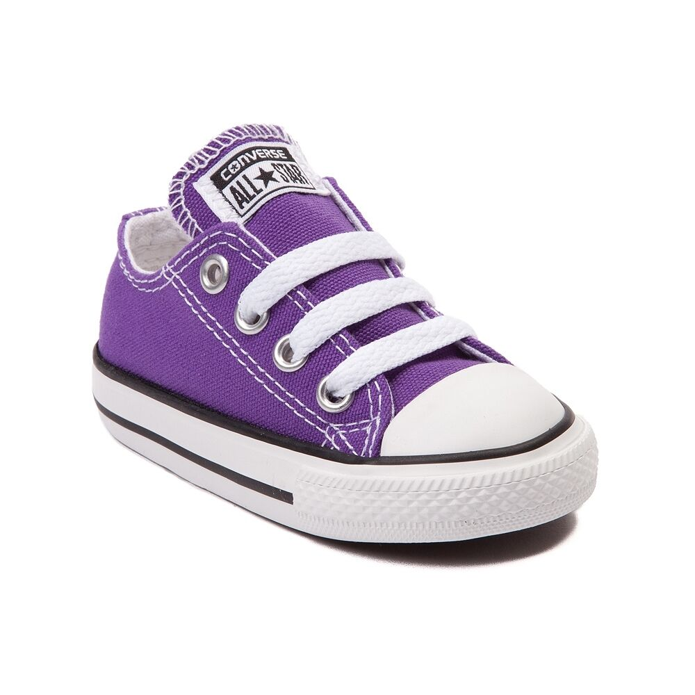 df1bc3c612db13 Details about NEW Converse Chuck Taylor All Star Lo Sneaker ELECTRIC PURPLE  TODDLER Shoe
