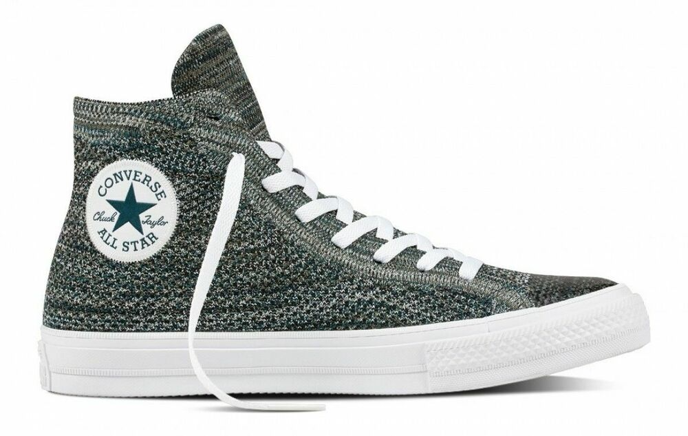 3711a34a48a7d3 Details about Converse Chuck Taylor All Star X Nike Flyknit High Top  157509C Atomic Teal White