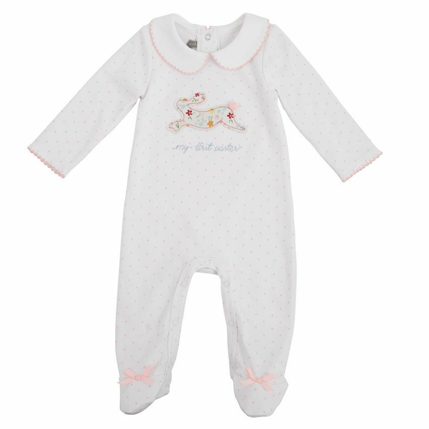 2e584d6e3 NWT Mud Pie My First Easter Bunny Baby Girl Footed Sleeper Pajamas 0 ...