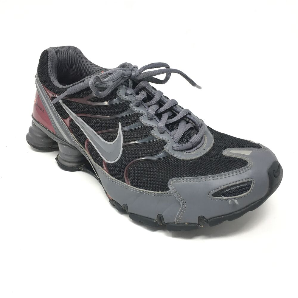bb2a7bf816d547 Details about Men s Nike Shox Turbo VI SL Shoes Sneakers Size 8.5 Training  Black Gray D13
