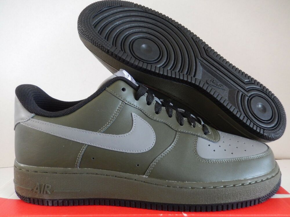 Details About NIKE AIR FORCE 1 LOW ID OLIVE GREEN GREY BLACK SZ 12 AQ3774 991