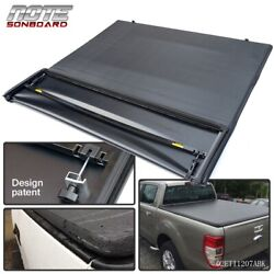 Kyпить For 1997-2003 Ford F-150 6.5ft/78in Bed Black Four Fold Soft Tonneau Cover на еВаy.соm