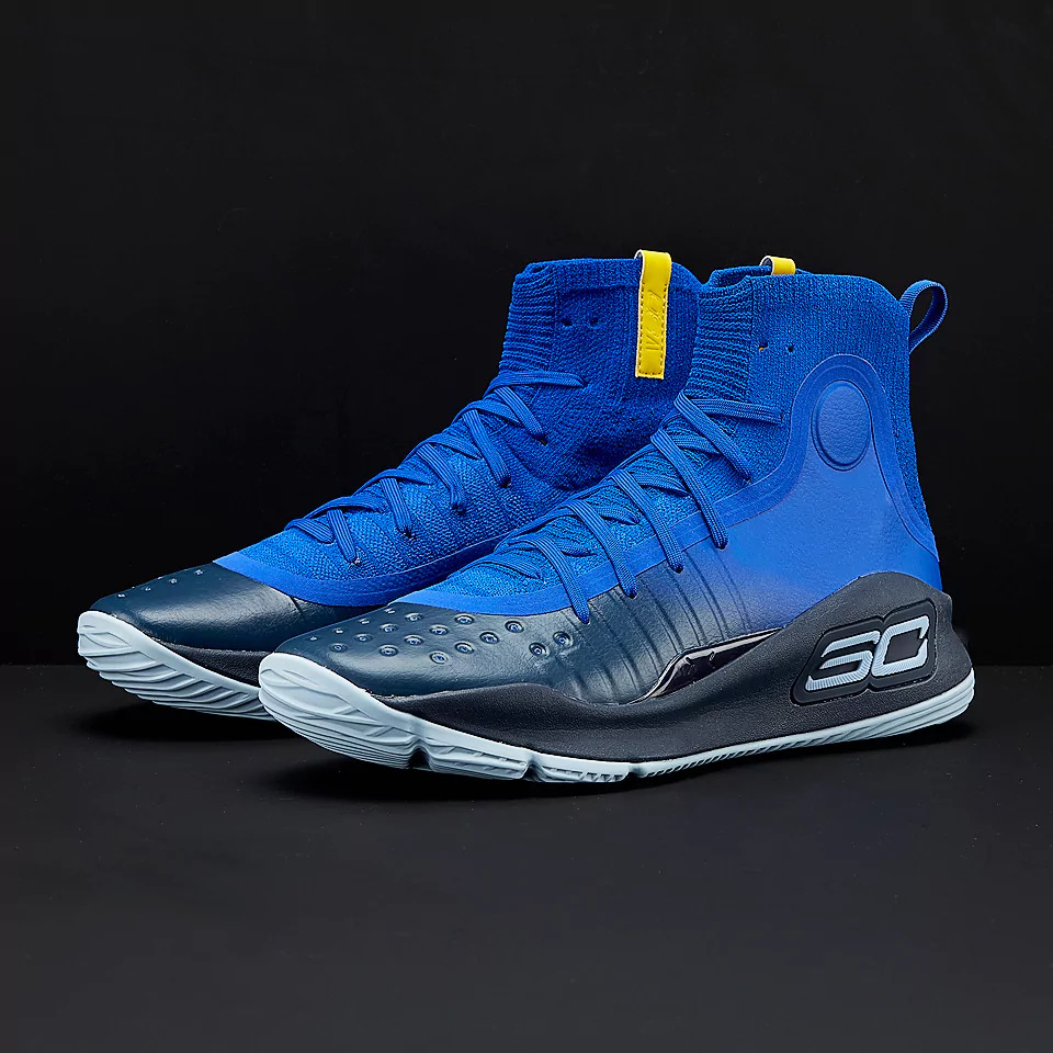 15afc630cbbe Details about Under Armour Curry 4 Dub Nation Away Warriors Size 8.5.  1298306-401 MVP Steph