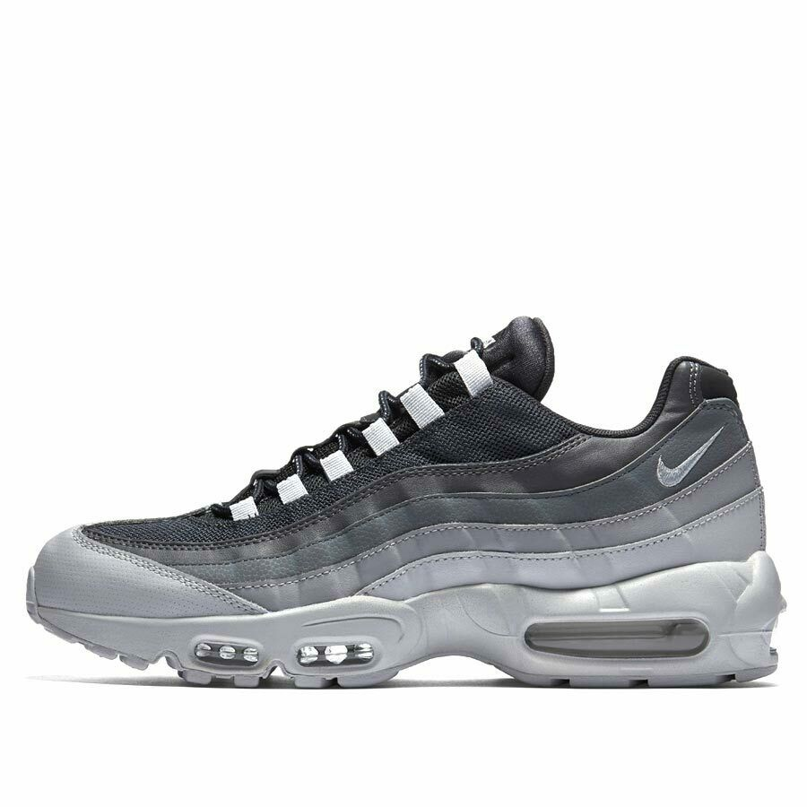 dbb35868992 Details about Nike Air Max 95 GREYSCALE WOLF GREY PURE PLATINUM WHITE BLACK  749766-029 sz 7-14
