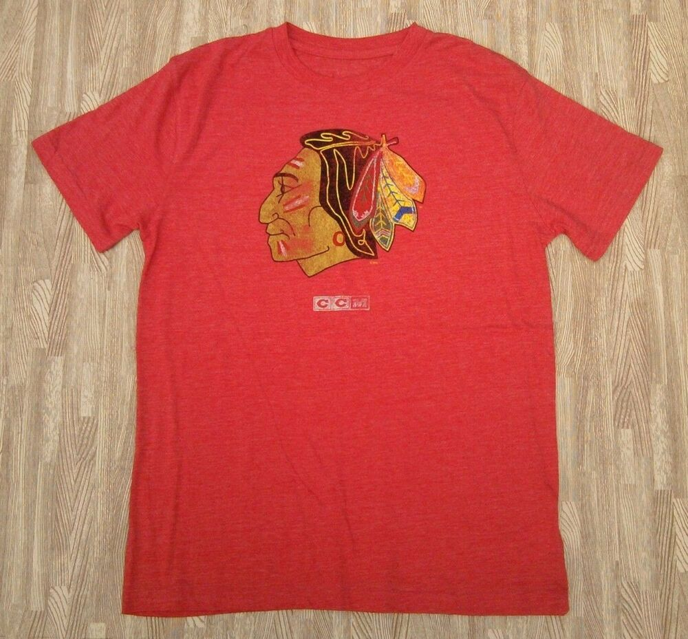 8b2a035b1d9 Details about Chicago Blackhawks CCM Winter Classic Shirt ~ Mens Small    Medium ~ CrossFit Red