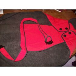 Muttluks Red Belted Dog Coat, Size 30, New