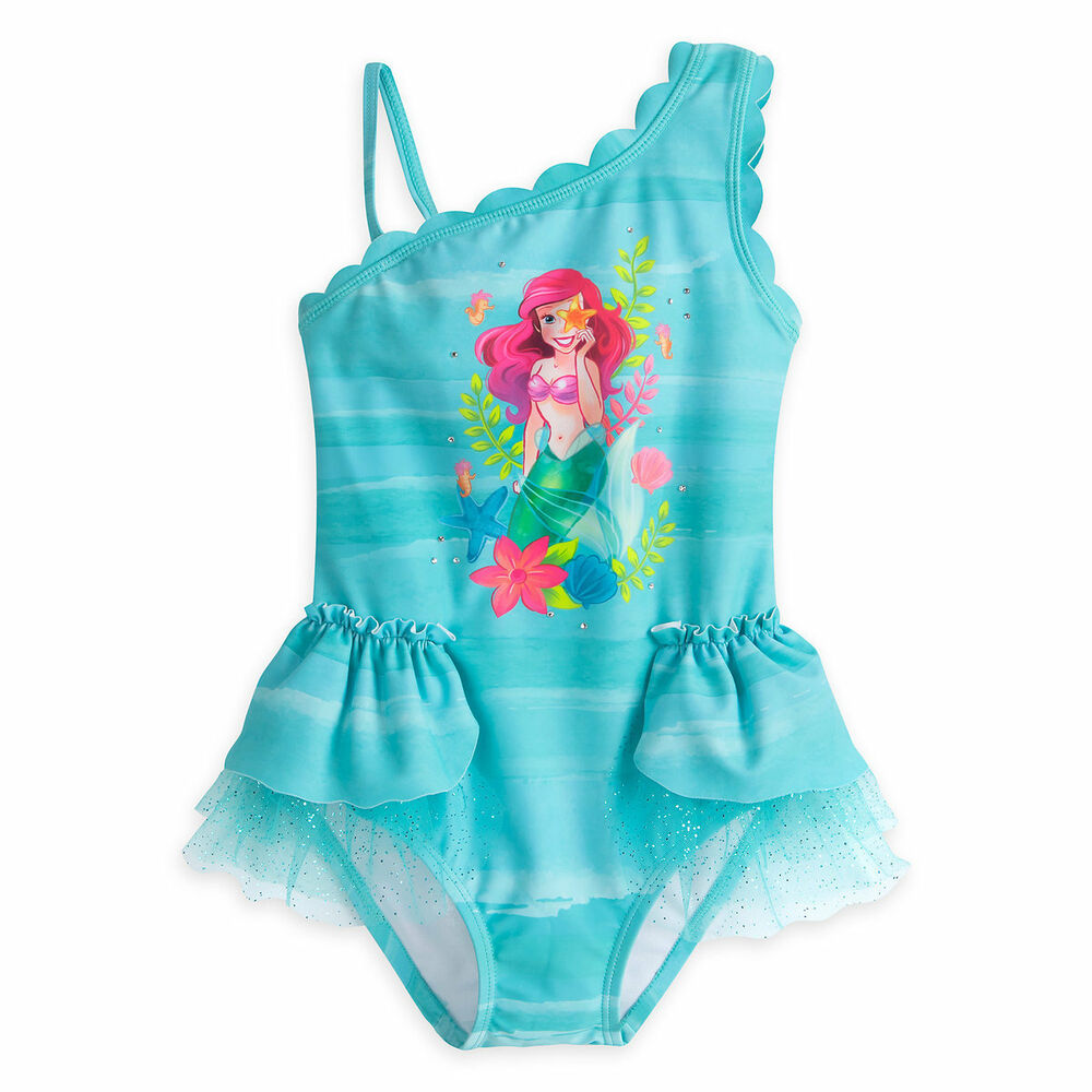 979687b374d0b Details about NWT Disney Store Deluxe Princess Ariel Swimsuit Little Mermaid  many sizes Girls