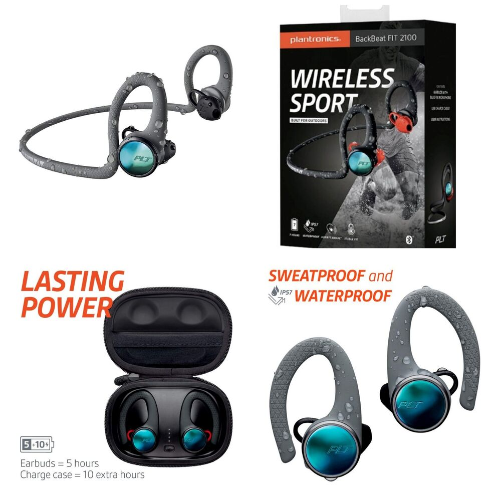 9e166c79709 Details about 🎧Plantronics BackBeat FIT 2100 Wireless In Ear Headphones  Sweatproof Waterproof