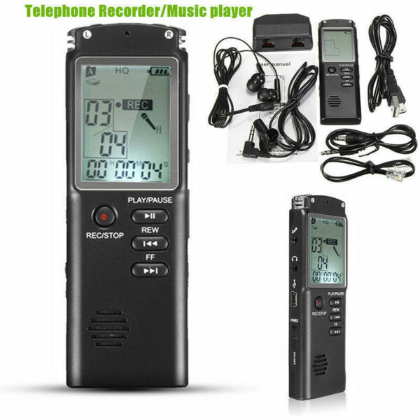2 IN 1 REGISTRATORE AUDIO VOCALE PORTATILE MP3 USB DIGITALE VOICE RECORDER 16GB