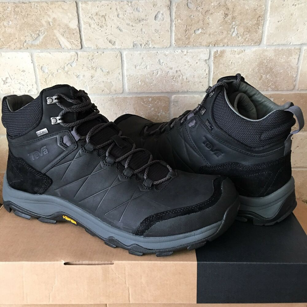 02796a3f641bb6 Details about TEVA ARROWOOD RIVA MID BLACK WP HIKING TRAIL LEATHER BOOTS  SHOES SIZE 12 MENS