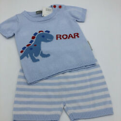 Clothing, Shoes & Accessories Baby Boys Zip Zap Pale Blue & White Tshirt & Shorts Age 24 Months