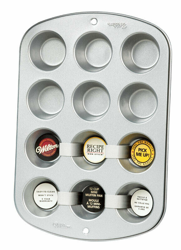 Wilton Mini Muffin Pan 12 Cup Non Stick Steel 70896590527