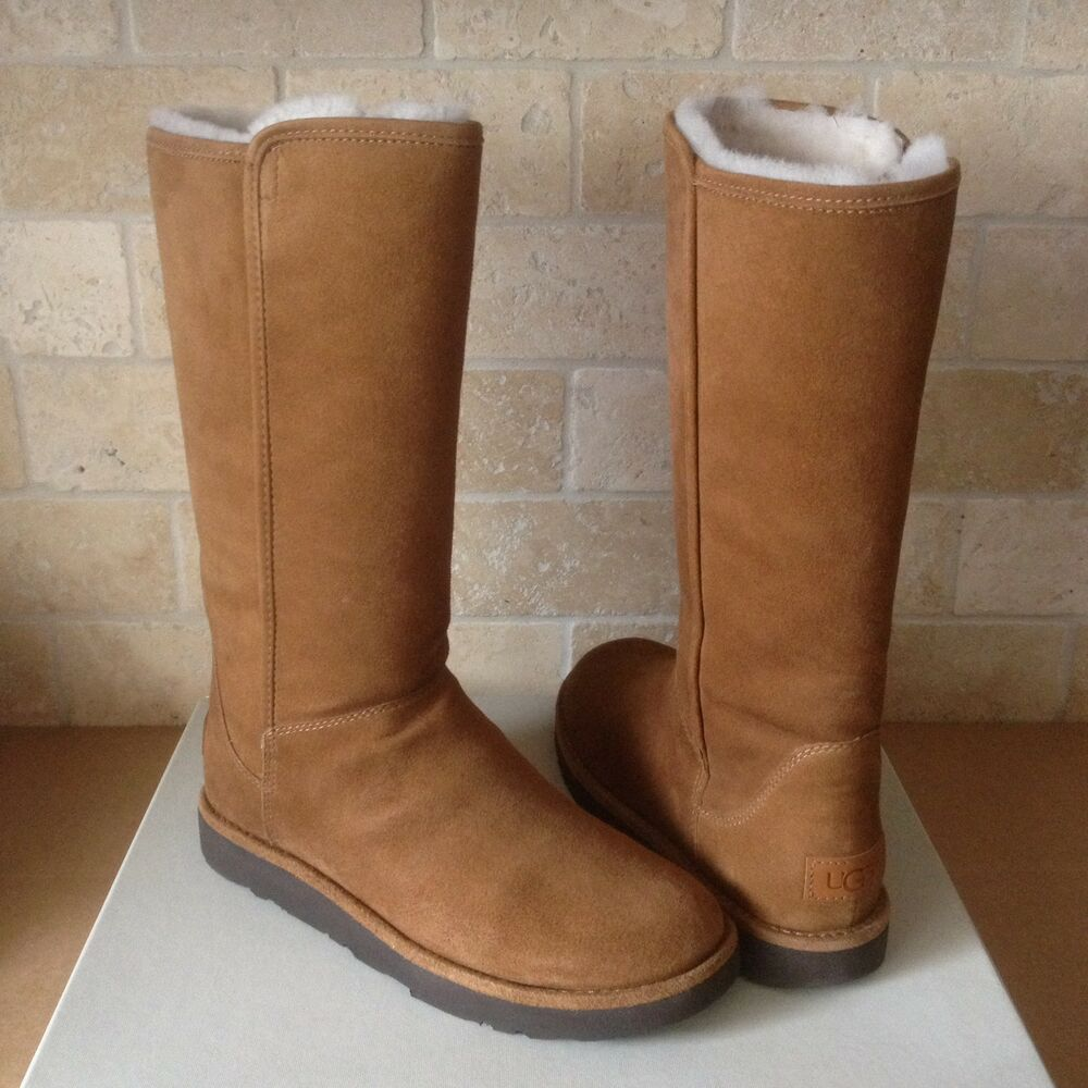 1905f307e6e UGG ABREE II BRUNO SUEDE SHEARLING ZIP CLASSIC TALL BOOTS SIZE US 11 WOMENS  NEW | eBay
