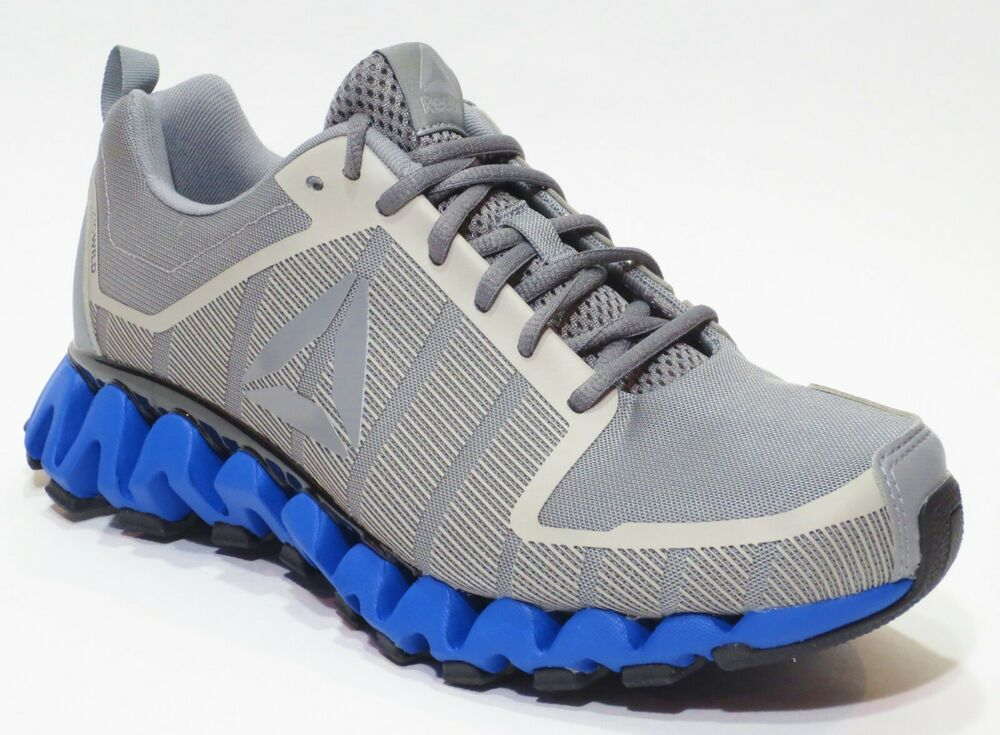 2c0bd40d462d Details about Reebok Men s Zig WIld TR 5.0 Running Shoes Sneakers New Gray  Blue ZigWild CN2444