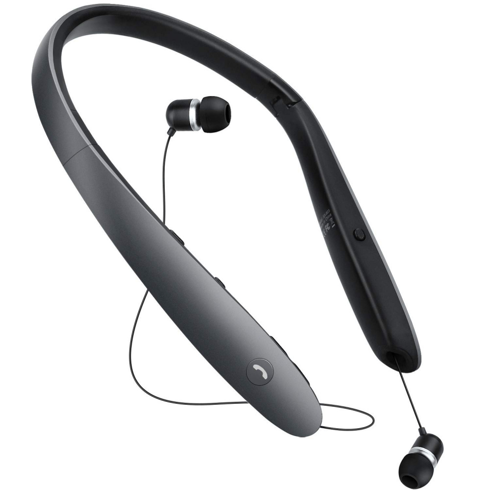 a5893e44386 Details about Bluetooth Headphones,Retractable Earbuds Neckband  Foldable,Neck Wireless Headset
