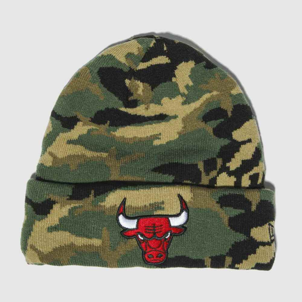 8f4e3495a6d Details about New 2019 Chicago Bulls New Era Essential Camo Knit Beanie