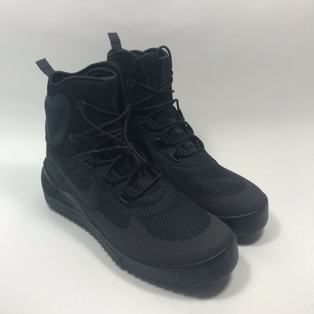 free shipping 80558 cc769 Details about Nike Air Wild Mid 916819-001 Triple Black Anthracite Men's  Hiking Boots size 8.5