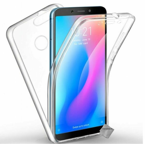 Housse etui coque gel 360 integrale Xiaomi Redmi 6 + film ecran - TRANSPARENT
