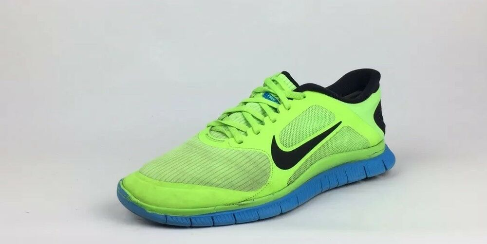 cheaper 5755c 5c7f5 Details about Nike Free 4.0 V3 Men s Green Blue Black Athletic Running Shoes  Size 11