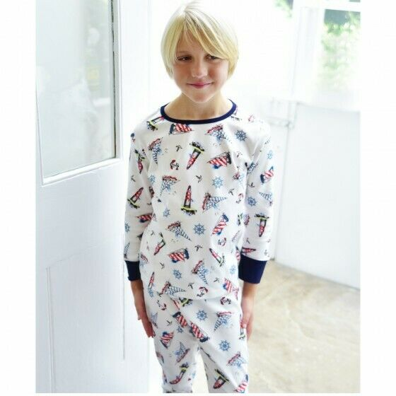 4579c862 Details about Boys Soft Jersey Cotton Boat Pyjamas Powell Craft Age 1-2,  2-3, 4-5, 6-7, 8-9