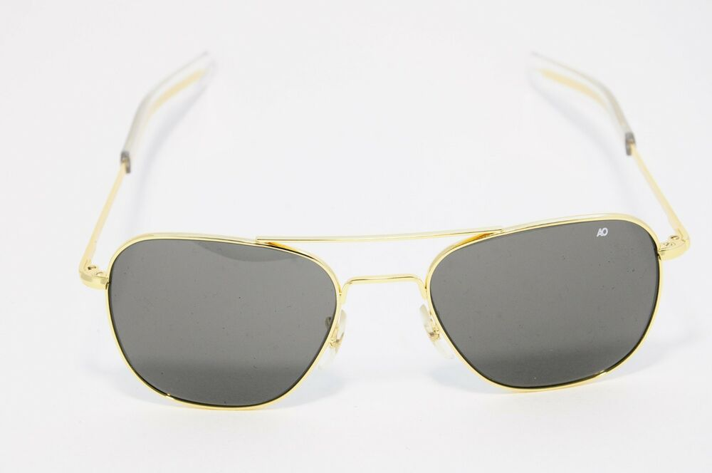 14dc6c1cd3 Details about AO AMERICAN OPTICAL ORIGINAL PILOT SUNGLASSES GOLD   GREY  55-20-140 NEW