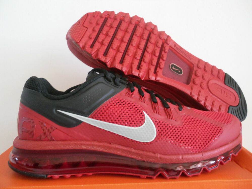 01024411a9 Details about MENS NIKE AIR MAX + 2013 GYM RED-REFLECTIVE SILVER-BLACK SZ  14 [554886-602]