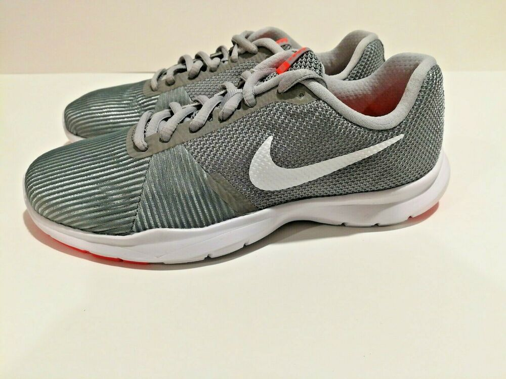 7150f344415ff Details about Nike Flex Bijoux Womens Cross Trainers Sneaker Shoes Gray  Coral Mesh Size6.5 New