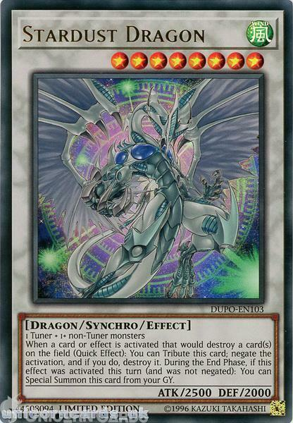 DUPO-EN103 Stardust Dragon Ultra Rare Limited Edition Mint ...