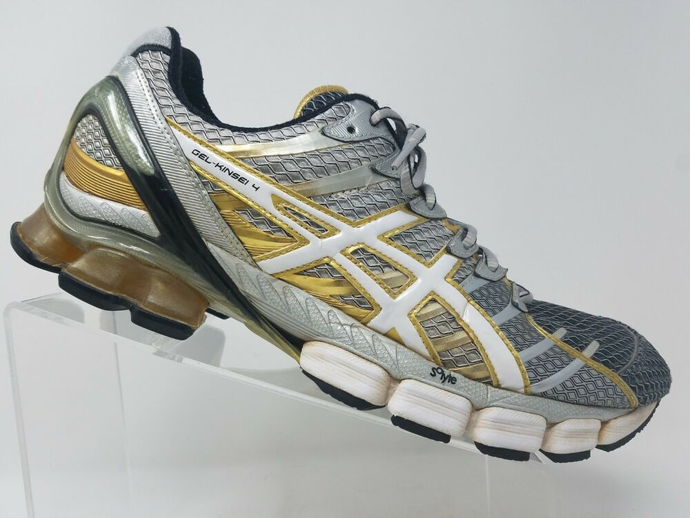 1f033b55b62 Details about Asics Gel Kinsei 4 Mens Running Shoe Size 12.5 Grey Gray Gold  Cross Training