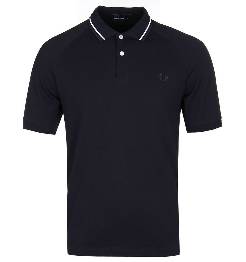 dd8c6a5cc BNWT Fred Perry M3609 Polo Shirt Twill Collar Navy XL RRP £60 Tipped Collar  608