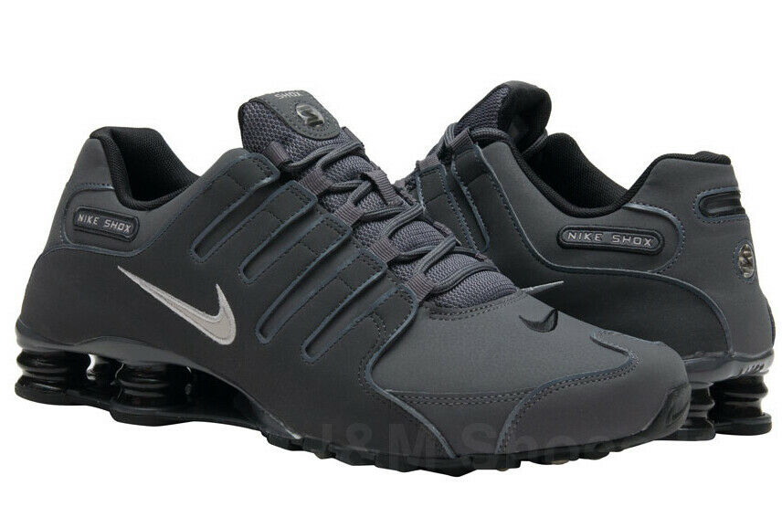 finest selection 638c2 acb0d Nike Men s Shox NZ Sneaker Shoes Dark Grey 378341-059   eBay