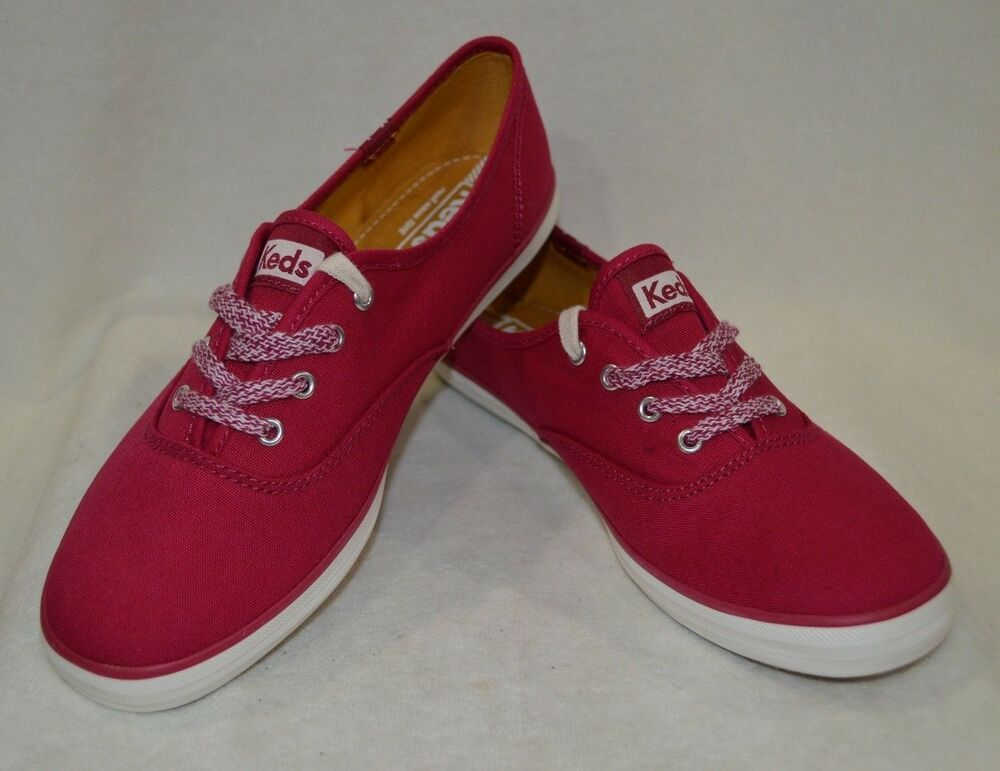 78b75cb4a99 Keds Women s Champion Oxford Burgundy Canvas Shoes- Asst Sizes