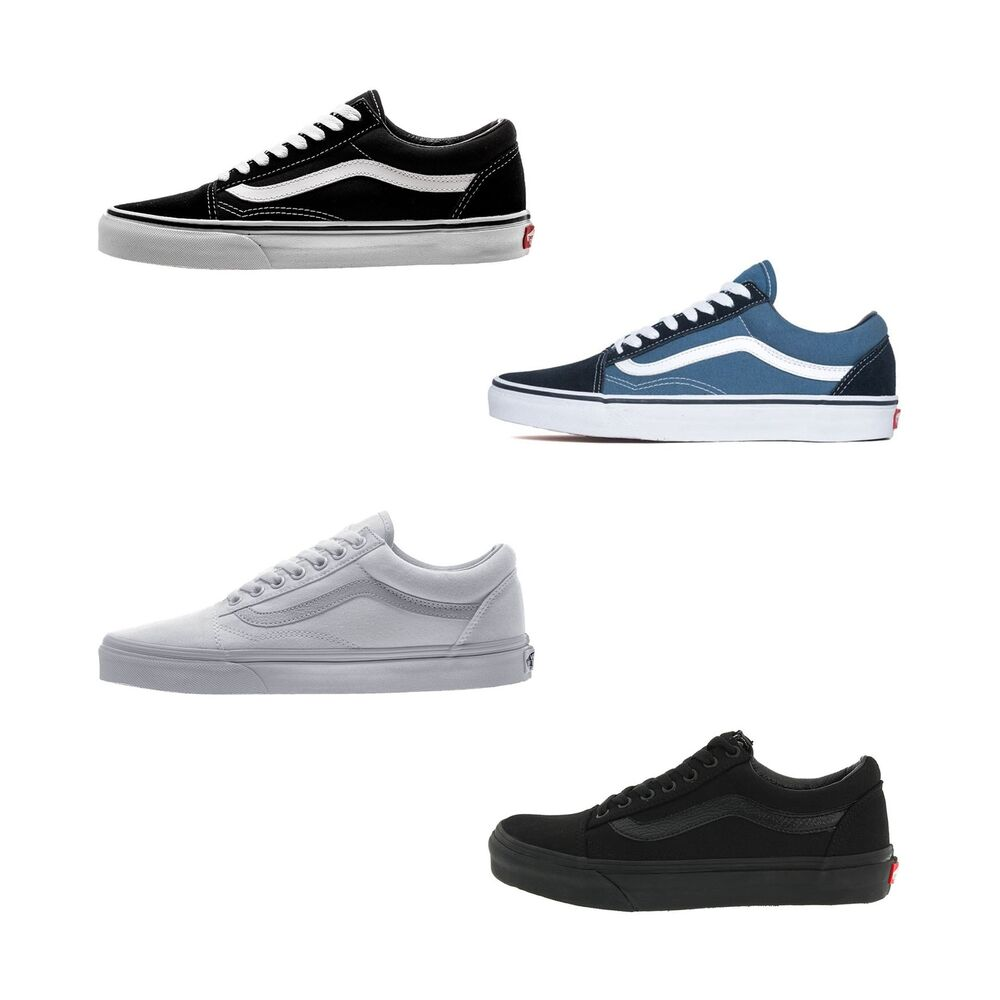 fb191e85a2 Details about VAN Old Skool Skate Shoes Black White All Size Classic Canvas  UK3-UK9.5 Eu 36-44